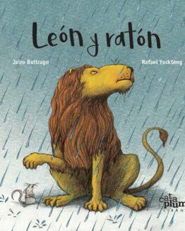León y ratón - Grillito lector