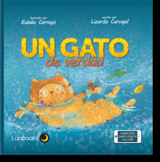 Un gato de verdad. Libro interactivo Luabooks. - Grillito lector