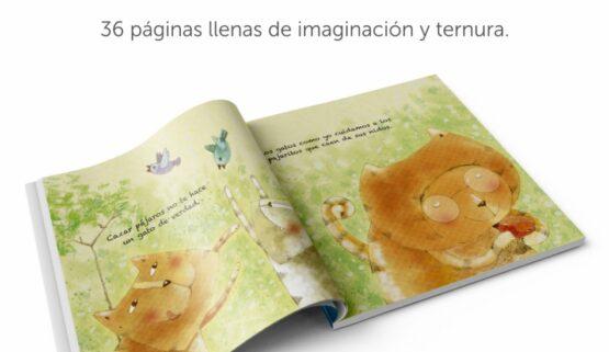 Un gato de verdad. Libro interactivo Luabooks.